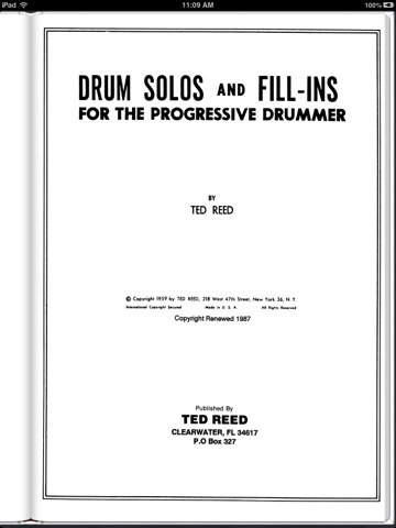 Drum Solos and Fill-Ins for the Progressive Drummer, Book 2 (Ted Reed Publications)