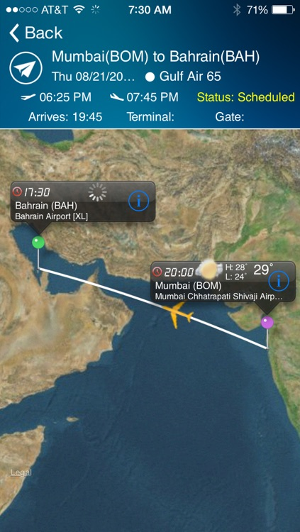 Bahrain Airport - Flight Tracker Premium Gulf Air screenshot-0