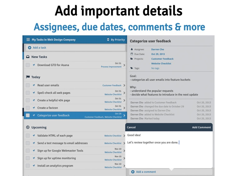 GTD for Asana - Do less. Get more done. screenshot-3