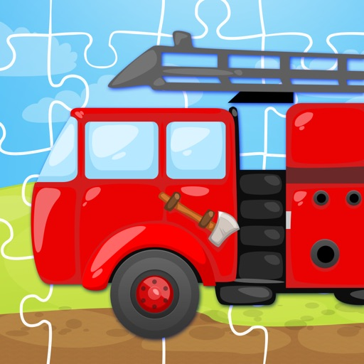 Trucks and Things That Go Jigsaw Puzzle Free - Preschool and Kindergarten Educational Cars and Vehicles Learning Shape Puzzle Adventure Game for Toddler Kids Explorers