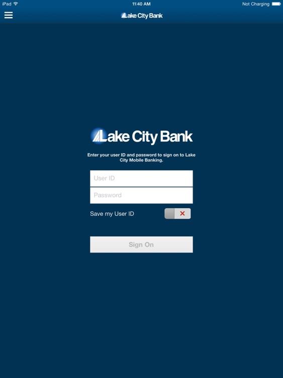 Lake City Bank Mobile for iPad