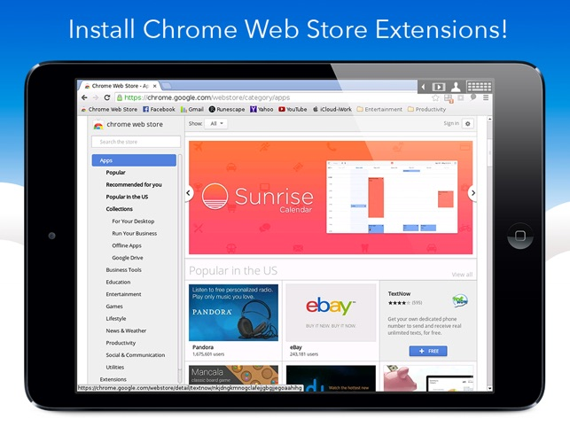VirtualBrowser for Chrome + Flash Browser, Java Player and Extensions -  iPad Edition