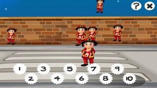 123數學遊戲學校兒童和嬰兒:第一任務和學習與消防和警察計數屏幕截圖5