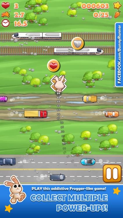 Bunny Run - Cross the street avoiding cars & tracks! screenshot-3
