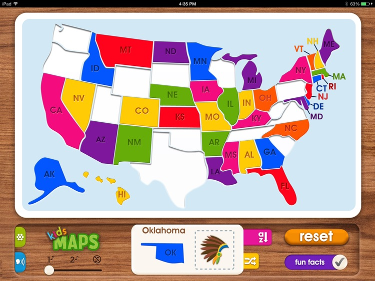 Kids Maps - U.S. Map Puzzle screenshot-0