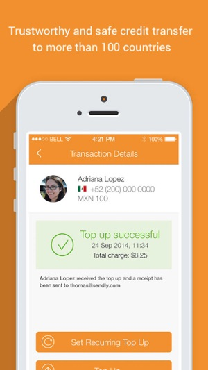 Sendly: Send top up to family and friends prepaid phones