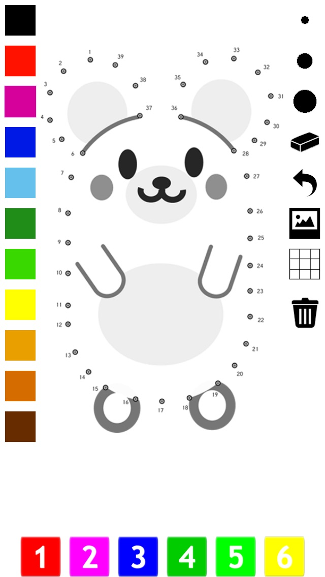Connect the dots coloring book for children: Learn painting by numbers for kindergarten, preschool or nursery school with this learning puzzle game Screenshot