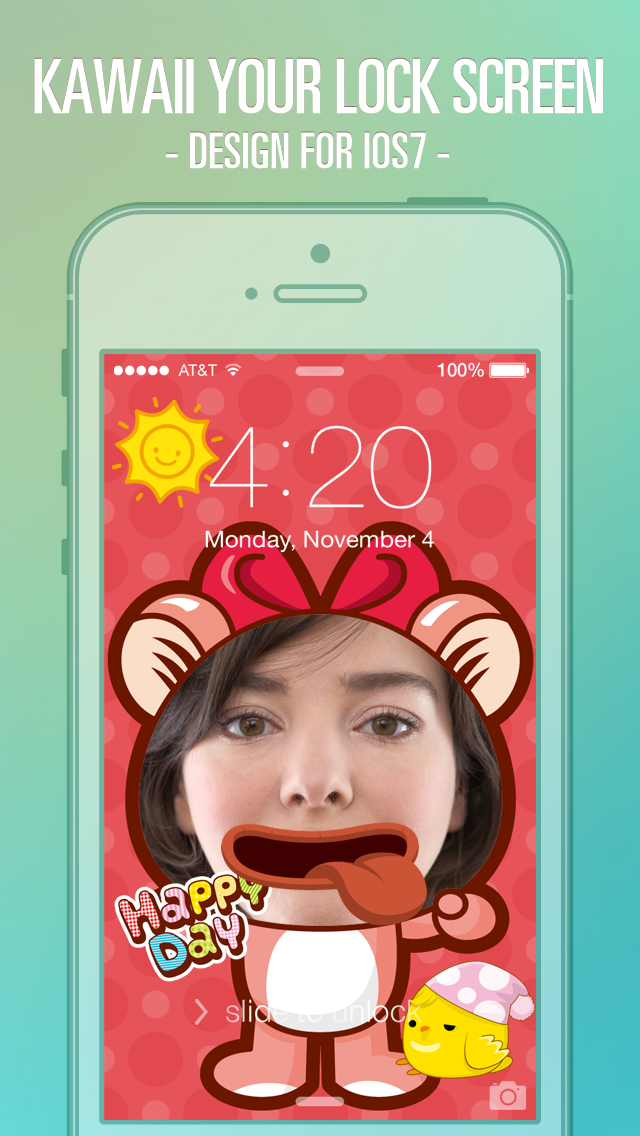 Pimp Lock Screen Wallpapers Pro Cute Cartoon Special For Ios 7