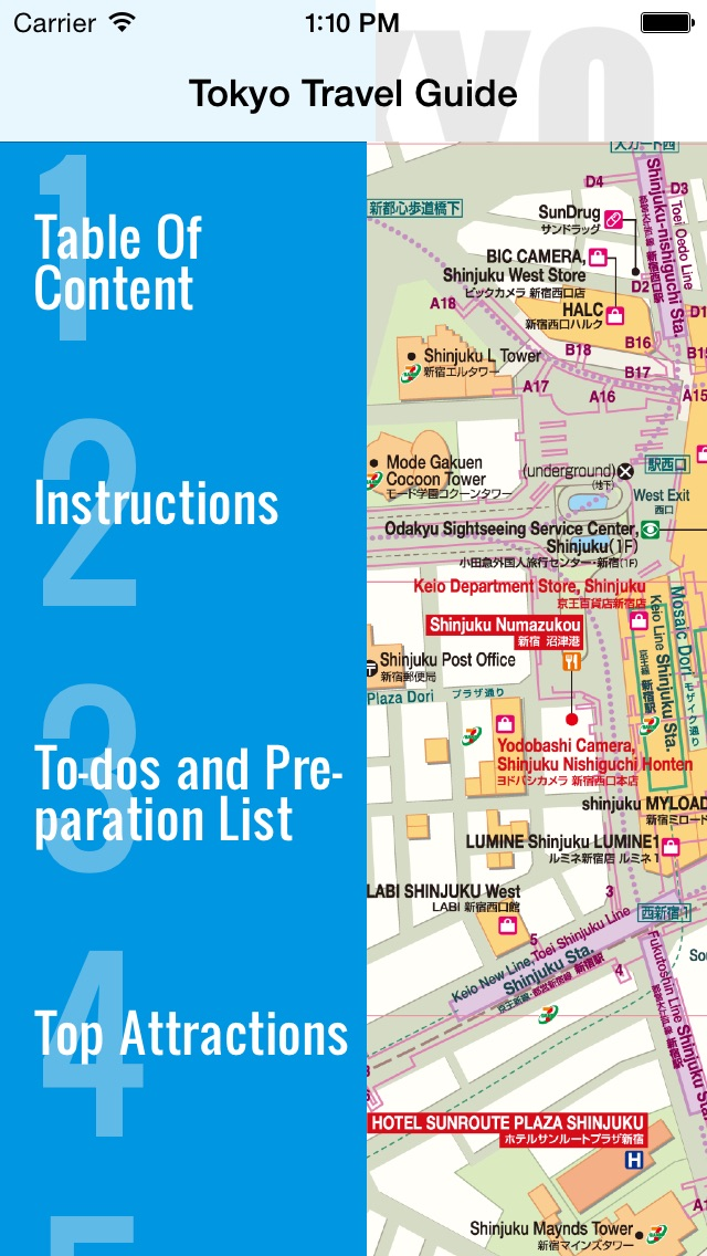 Tokyo travel guide and offline map - Tokyo metro Tokyo subway Narita Haneda Tokyo airport transport, Tokyo city guide, JR Japan Railway traffic maps lonely planet sightseeing trip advisor,  东京旅行地图,日本火车地铁,旅游景点自由行指南 Screenshot