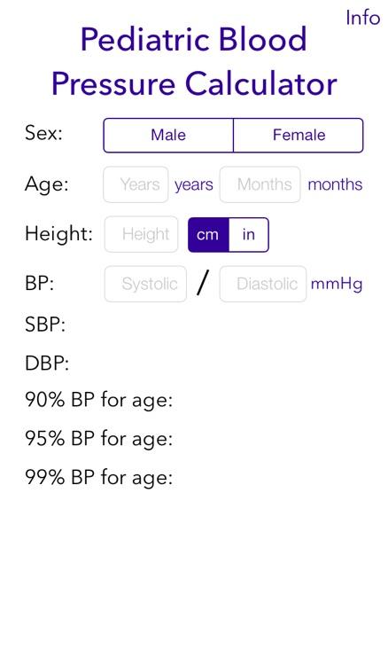 Pediatric BP Calculator