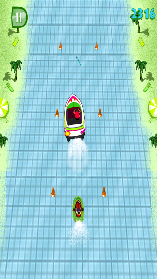 Doodle Speed Boat Stunt Race - Free Jet Ski Racing Game screenshot one