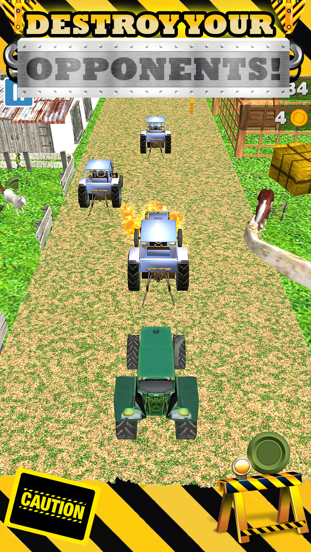無料で恐ろしい男の子と子供のためのトップファームレースゲームで3Dトラクターレースゲームのおすすめ画像4