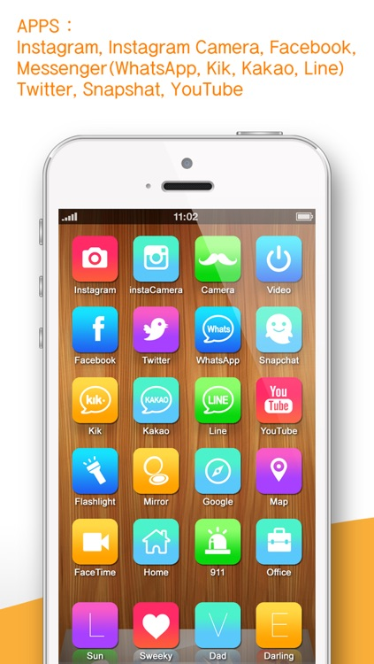 One touch call, Apps, home screen shortcut icon ( iFavorite Pro : for Instagram camera, Snapshat, WhatsApp and iOS7 )
