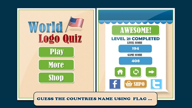 World Flag Logo Quiz Guess The Country Name From Hidden Object - Name countries quiz
