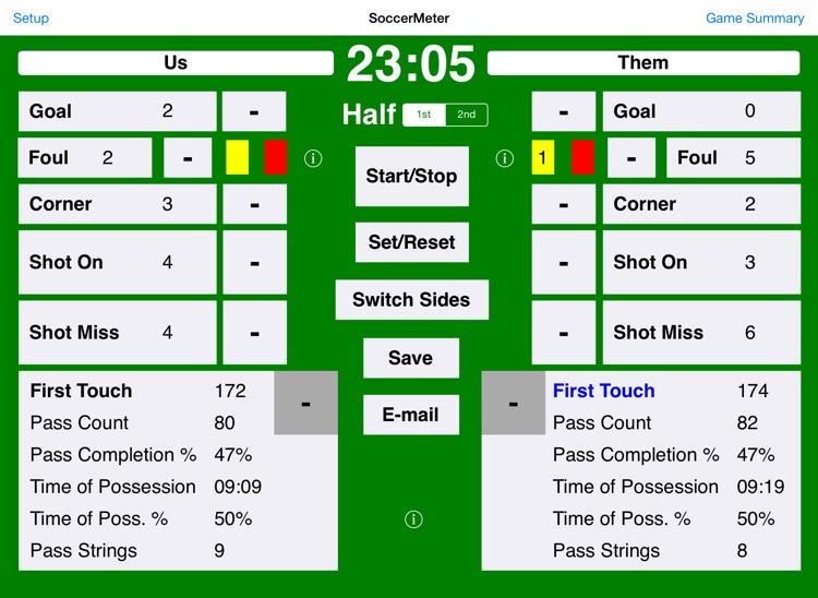 SoccerMeter for iPad screenshot-0