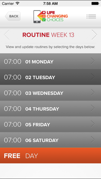 LIFE CHANGING CHOICES - ROUTINE screenshot two
