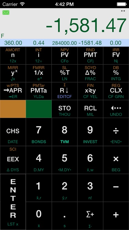 Calc-12E RPN Financial Calculator