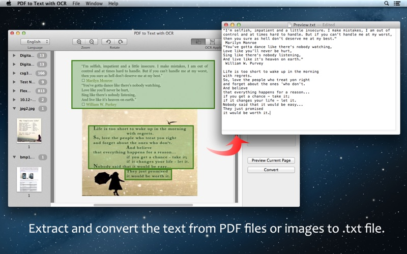PDF to Text with OCR Screenshot