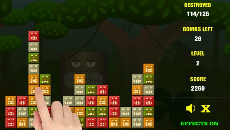 Jungle Blocks Collapse - Free Puzzle Brain Game