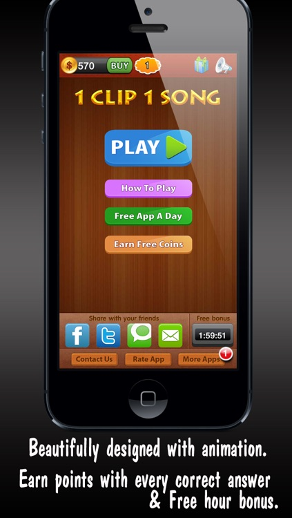 1 Clip 1 Song ™ guess what is the music from addictive word puzzle quiz game screenshot-3