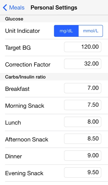 Diabetes Personal Calculator screenshot-4