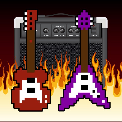 Tiny Angry Electric Guitar! Game - Guitar Tap Mania Games icon