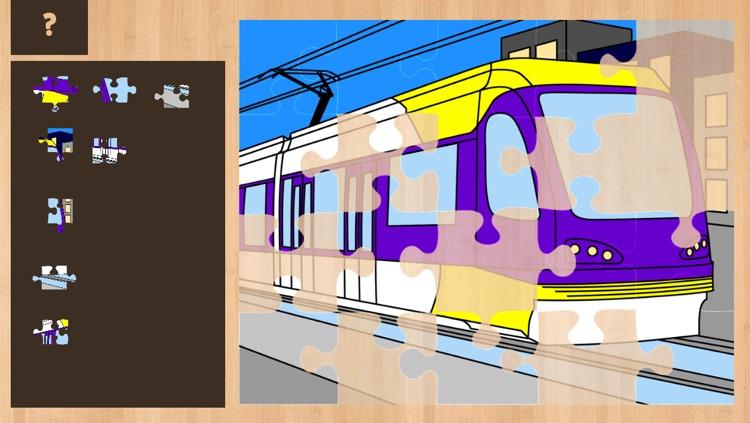 Color It Puzzle It: Trains Lite screenshot-4