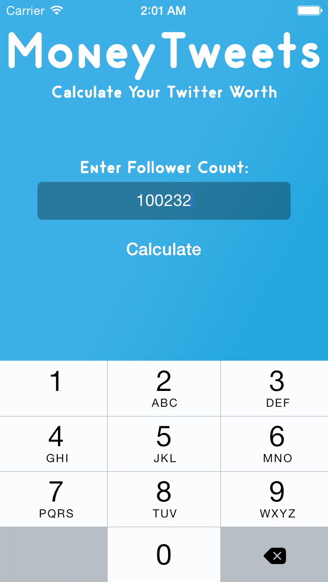 点击获取Money Tweets - Calculate the Net Worth of Accounts and Cost Per Tweet for Twitter!