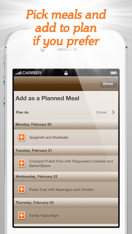 Spinning Meals Smart Meal Planner screenshot-4