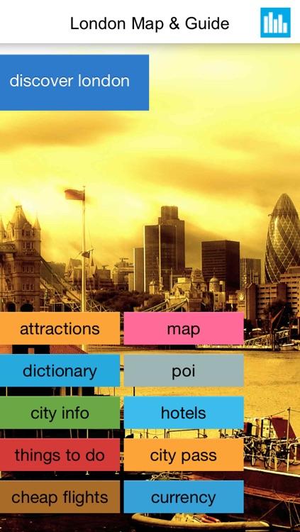 London offline map, guide, hotels.