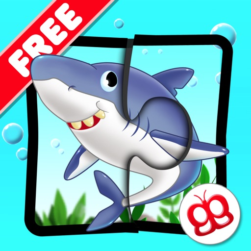 Ocean Jigsaw Puzzle 123 for iPad Free - Word Learning Puzzle Game for Kids icon