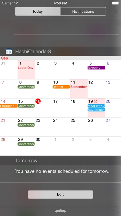 HachiCalendar3 - Vertical Scroll Calendar,Widget Calendar screenshot-0