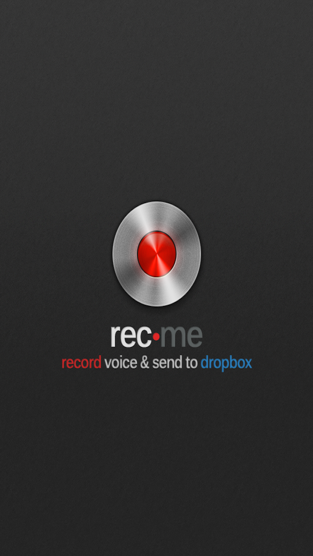 rec.me record voice & send to dropbox screenshot one