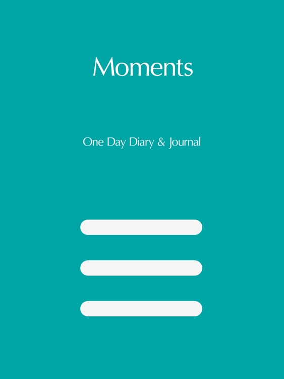 Moments - One Day Diary & Activities Journal