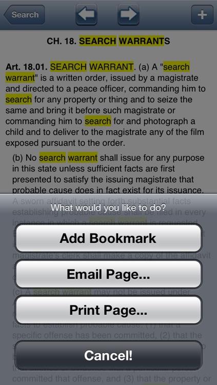 TX Code of Criminal Procedure 2016 - Texas Law screenshot-3