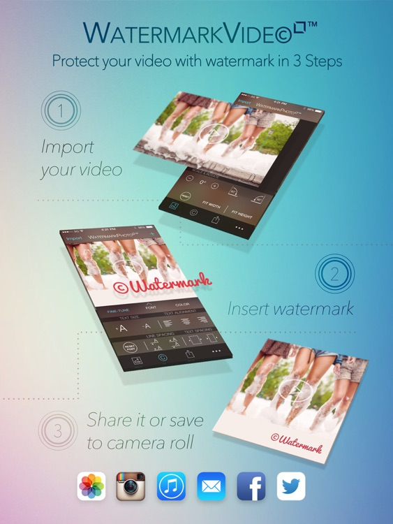 Watermark Video Square Free - Watermarking App
