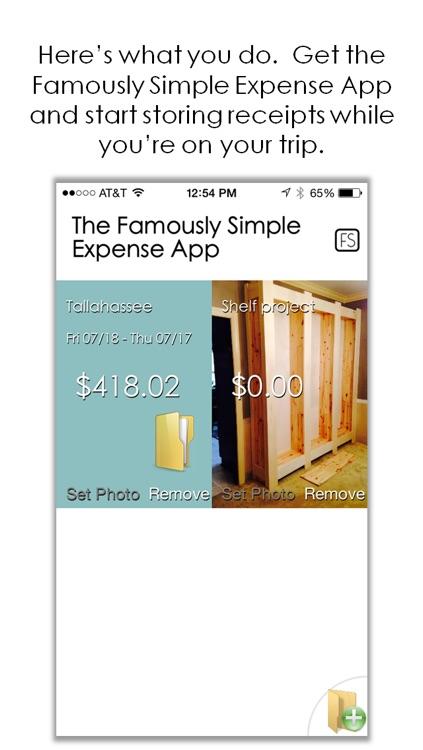 Famously Simple Expense App