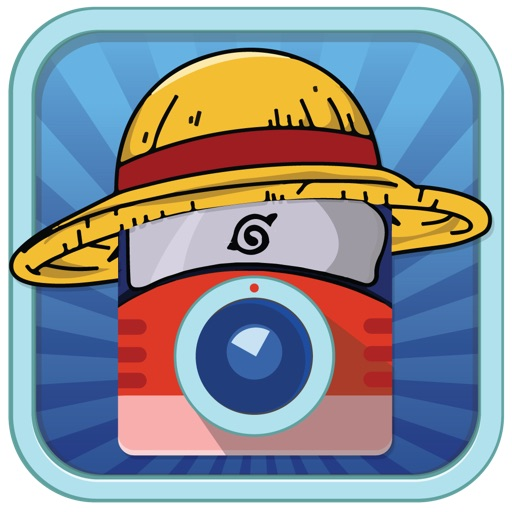 Manga Sticker Camera HD - Super Saiyan Goku Ninja Naruto Luffy One Piece Hair Edition