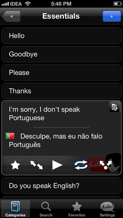 Lingopal Portuguese LITE - talking phrasebook