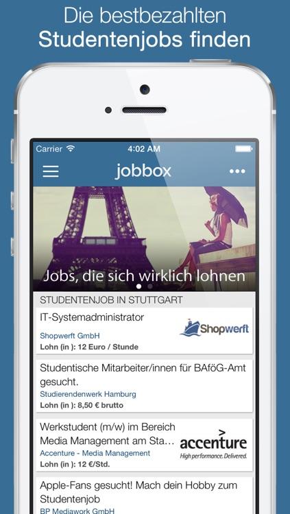 Jobbox - Job, Nebenjob, Praktikum und Absolventenstelle Stellenbörse für Studenten
