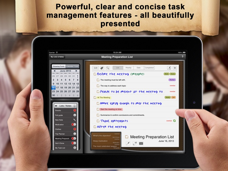 Manage: Handwriting To-Do and Task List Manager - finger, stylus and typed screenshot-2