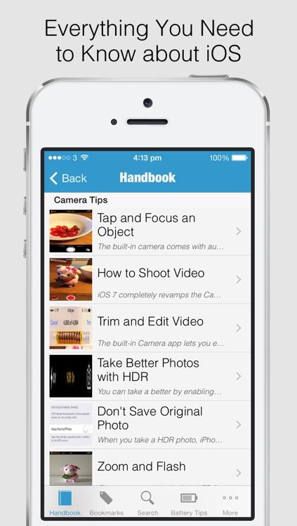 Secret Handbook for iOS 7 - Tips & Tricks Guide for iPhone