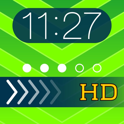Theme Foundry HD FREE – EZ Lock Screen, Slide to Unlock, Color Dock, Dots & Status Bar Background Wallpaper Themes to use your own Photos!