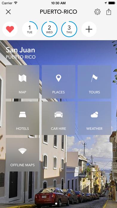 Пуэрто-Рико - Оффлайн-карта и путеводитель от TripomaticСкриншоты 1