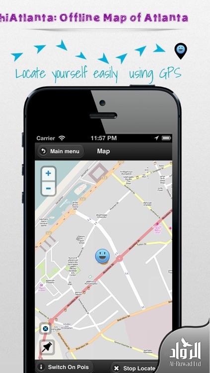 hiAtlanta: Offline Map of Atlanta