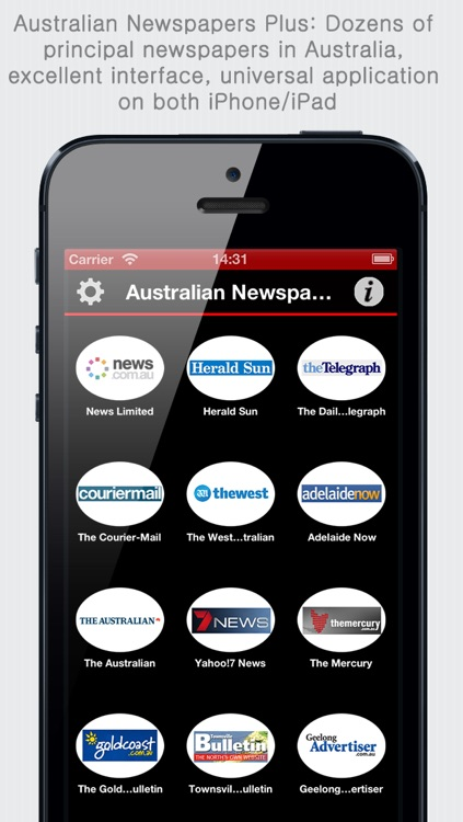 Australian Newspapers+ (Aussie News+ by sunflowerapps) screenshot-0