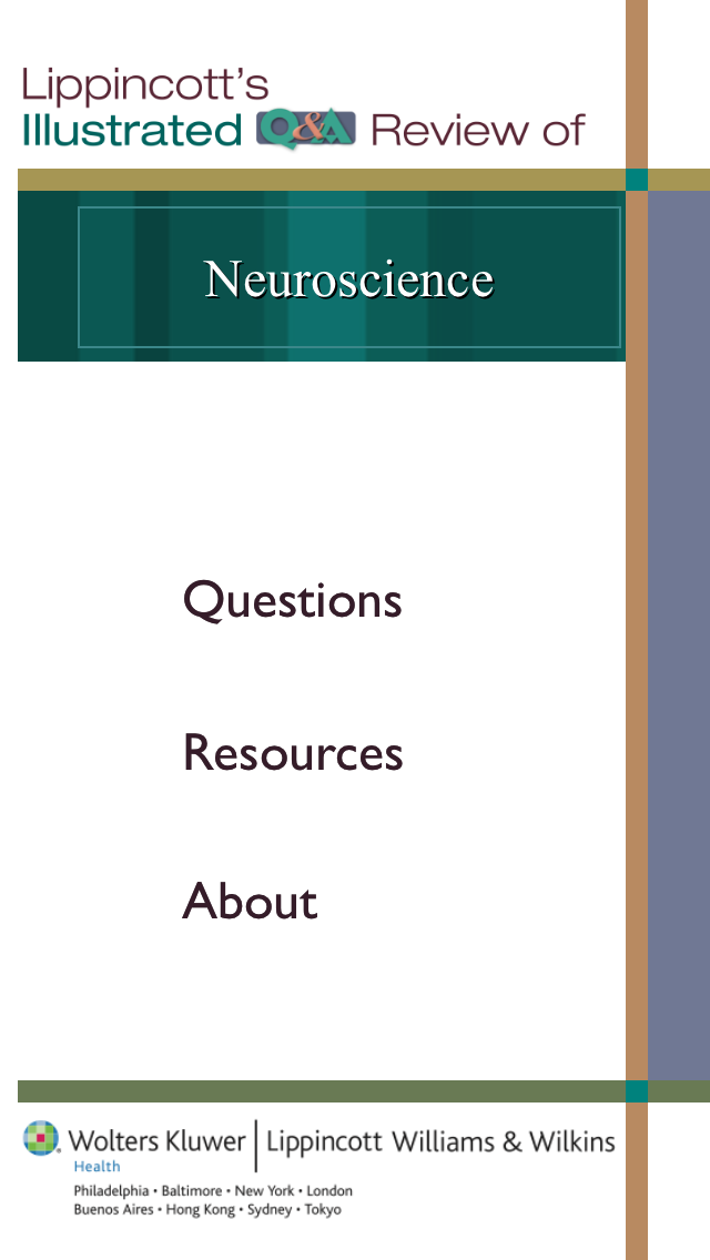 Neuroscience Lippincott's Illustrated Q&A Review screenshot one