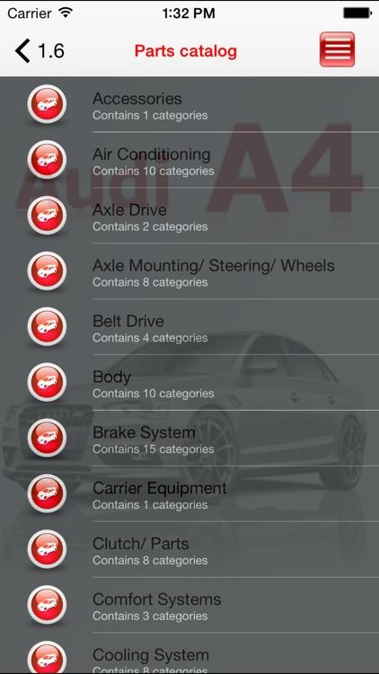 AutoParts  Audi A4