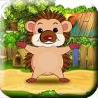 弹跳刺猬! - 帮助启动微小的婴儿刺猬抓住他的食物! icon