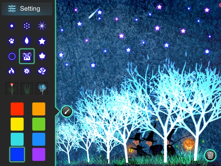 Glow Doodle !! - Paint, Draw and Sketch with Sparkle Glowing Particles screenshot-3